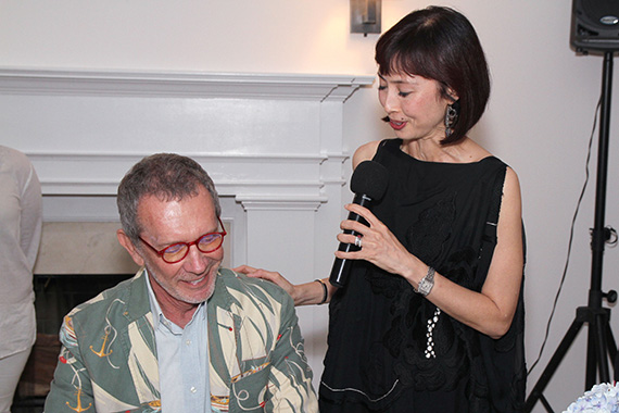 Arne Glimcher and Melissa Chiu