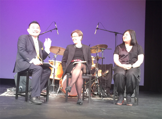 Boon Hui Tan, Archine Jane DeBevoise,  and Dr. Sook-Kyung Lee