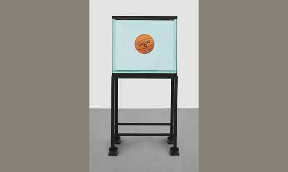 Jeff Koons - One Ball Total Equilibrium Tank (Spalding Dr. J Silver Series)